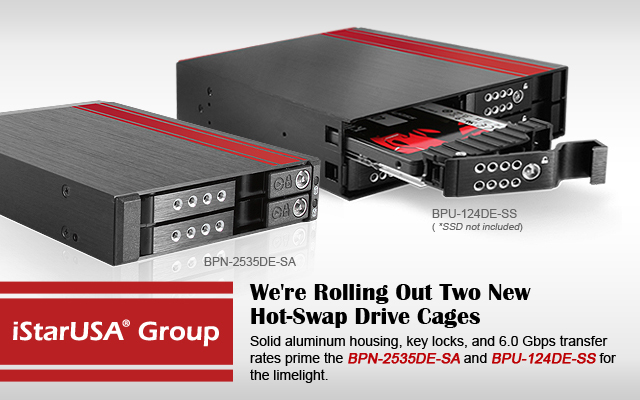 BPN-2535DE-SA and BPU-124V2-SS Hot-Swap Cages