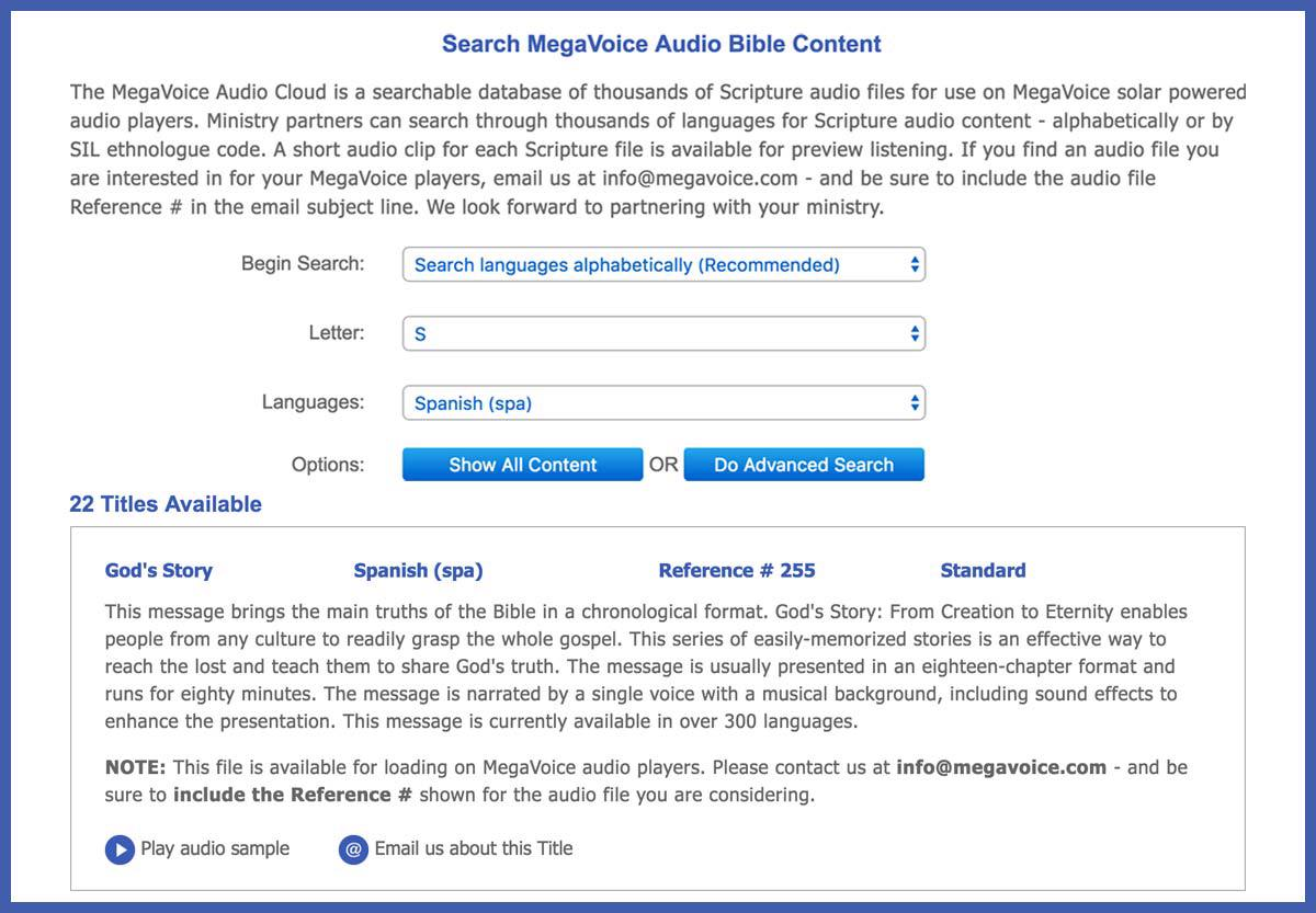 MegaVoice Audio Bible May 2016 Newsletter Image 2