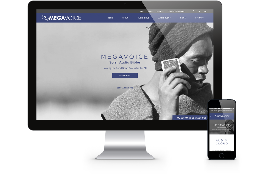 MegaVoice Newsletter Image - New Website