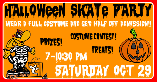 Come skate at InterSkate for a Happy Halloween!