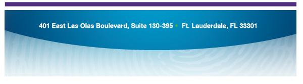 401 E Las Olas Blvd, Suite 130-395, Ft. Lauderdale, FL, 33301