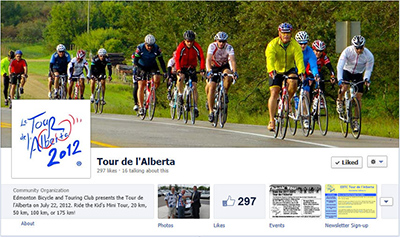 New Tour de l'Alberta Facebook Page