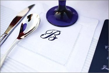 Monogrammed Cocktail Napkin