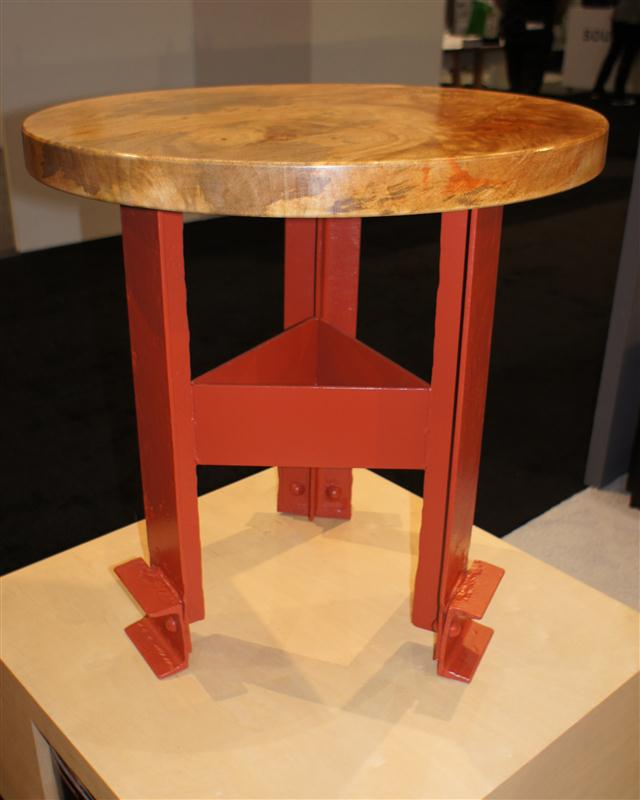 Golden Gate Bridge Side Table with Wood