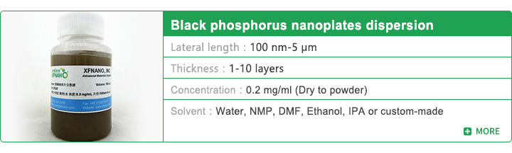 Black phosphorus nanoplates dispersion