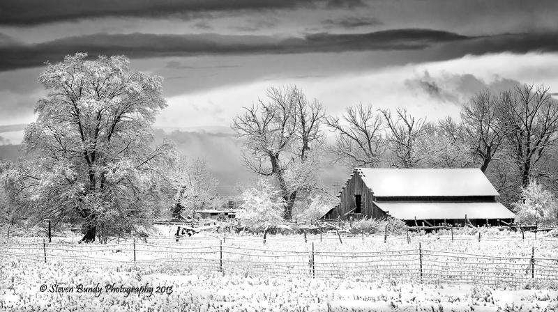 Los Pandos Ranch in Snow