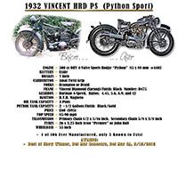 1932 Vincent HRD Python Sport
