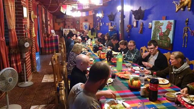 Evening Dinner at Teotihuacan
