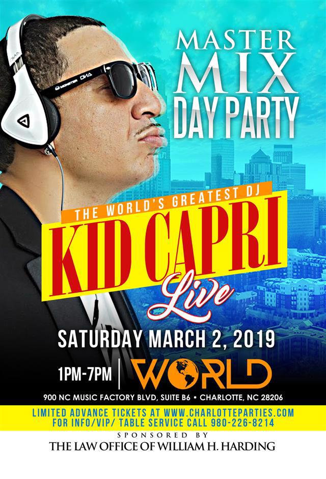Kid Capri Master Mix Day Party @ World CIAA