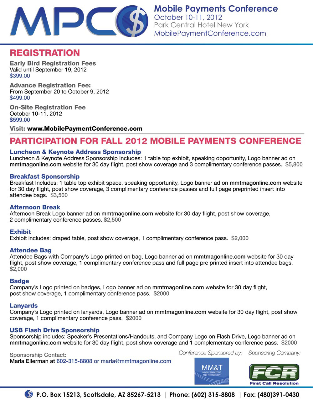 Mobile Payment Conference Fall 2012 NYC