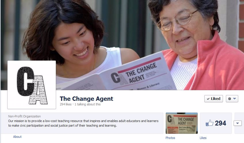 Change Agent Facebook Page
