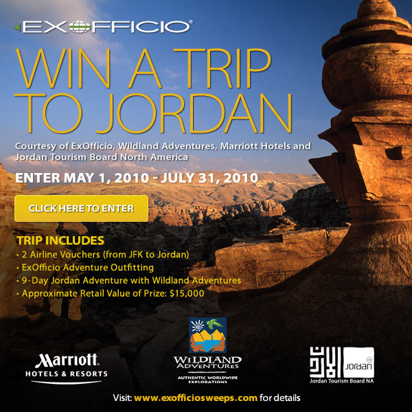 ExOfficio's Jordan Majestic Quest Sweepstakes