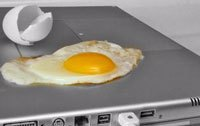 Laptop is so hot you can fry an egg on it