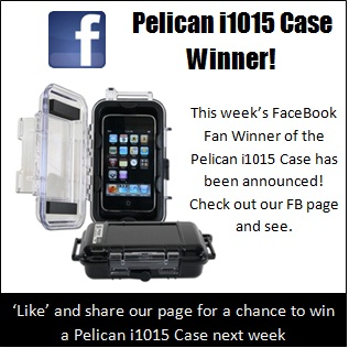 Pelican Case winner on Facebook.  See if you won.