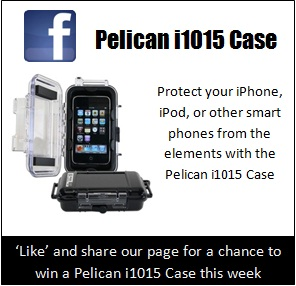 PelicanCasesForLess.com is on FaceBook.  'Like' our page and be entered for a chance to win a Pelican i1015 Case.
