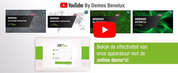 ZKTeco webinars nu beschikbaar op ons YouTube kanaal!