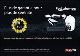 Garantie de 5 ans sur les produits DAHUA de By Demes France
