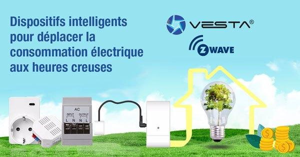 Dispositifs intelligents pour déplacer la consommation électrique aux heures creuses