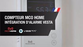 Compteur de CO2, température et humidité MCO HOME et intégration d'alarme VESTA