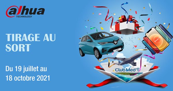 Maintenant nous tirons au sort 3 cadeaux pour des achats supérieurs à 3 000 € HT Dahua et Imou !