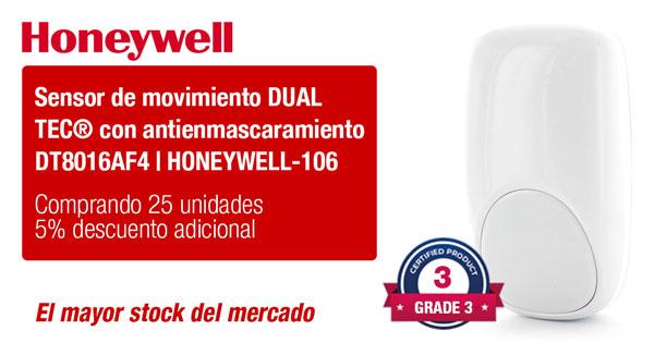 Sensor de movimiento DUAL TEC® con antienmascaramiento DT8016AF4 HONEYWELL-106