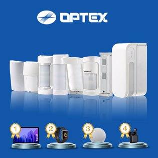 ¡Ahora sorteamos 4 regalos por compras de +400€ sin IVA en todos los sensores de exterior OPTEX!