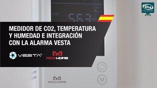 Medidor de CO2, Temperatura y Humedad de MCO HOME e Integración con la Alarma VESTA