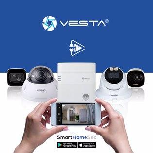 ¡Solo con VESTA puede integrar sus cámaras IP DAHUA y en menos de 1 minuto!