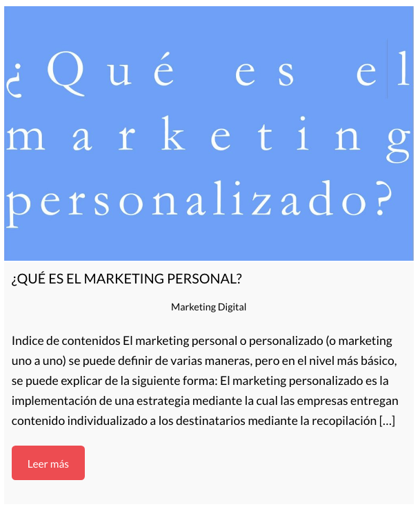 El objetivo del marketing personalizado es comprometer verdaderamente a los clientes