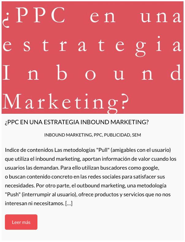 ppc, estrategia, inbound marketing
