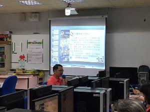 台南二中 王厚匡老師使用電腦主講