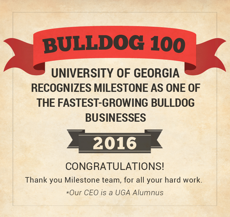 Milestone is in the Bulldog 100