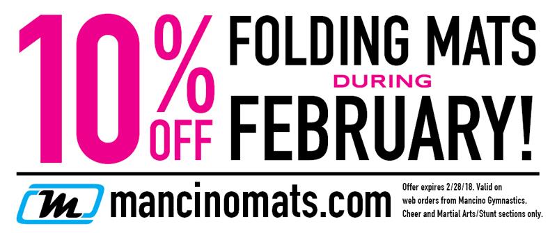 folding mats february sale
