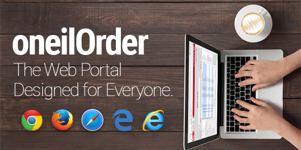 oneilOrder - The Web Portal for Everyone