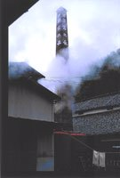 Kura chimney and morning mist