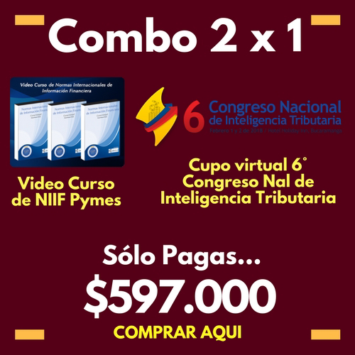 Combo video curso de NIIF + Cupo Streaming al congreso