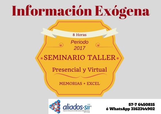 Seminario Taller de Información Exogena