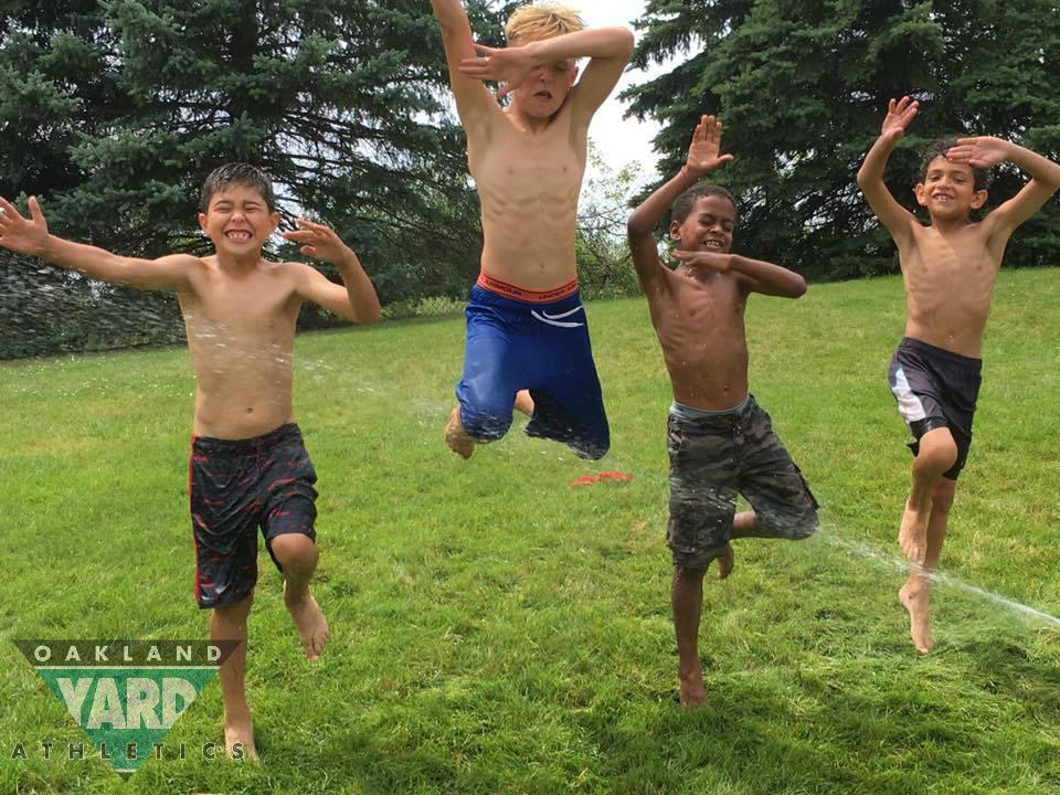 Boys in the Sprinkler