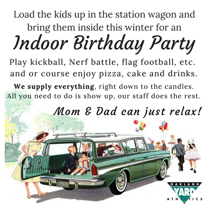 Birthday Parties - Indoors, with sports!