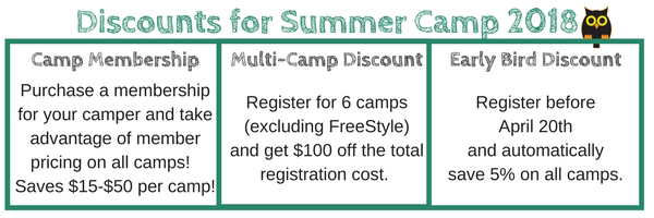 Summer camp discounts