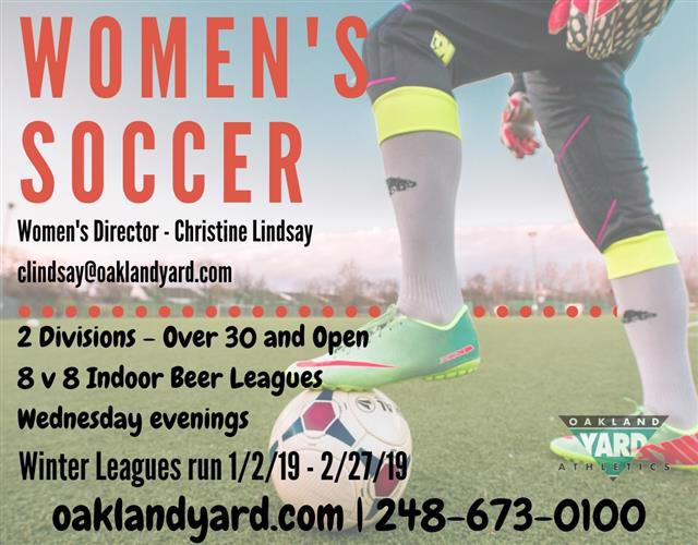 Womens Soccer over 30 competitive recreational leagues