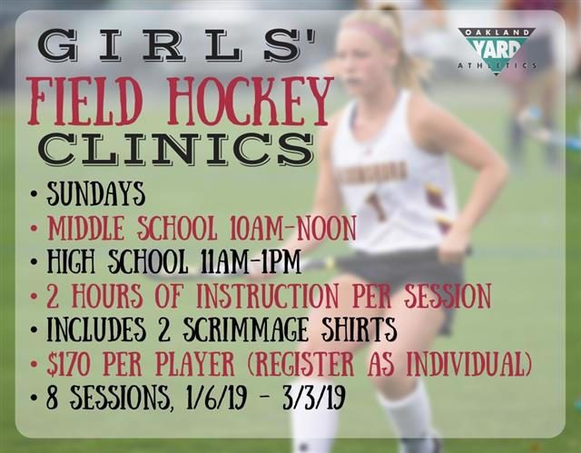 High School Middle School Girls Field Hockey Clinic