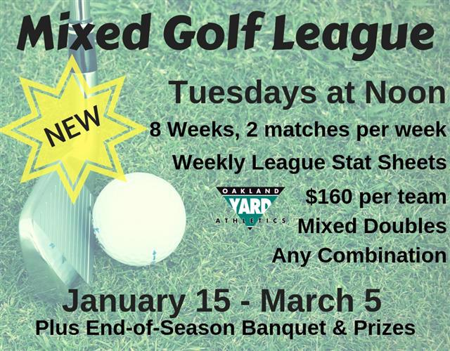 Golf League Indoor Chipping Mixed Women Men Coed