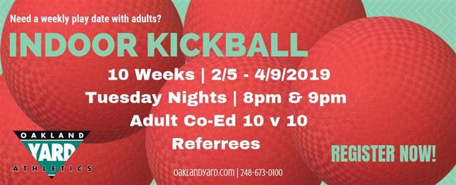 Kickball Adult Coed League Winter