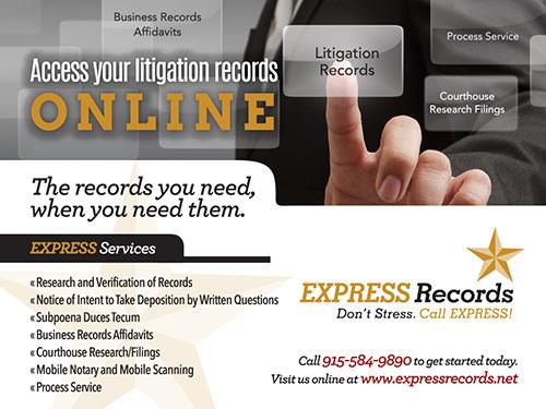 Express Records ... Don't Stress, Call EXPRESS!