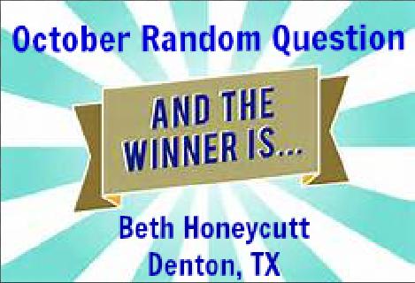 Congratulations, Beth!