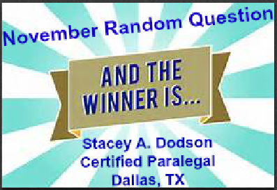 Congratulations, Stacey!