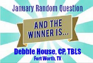 Congratulations, Debbie!
