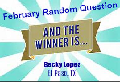 Congratulations, Becky!
