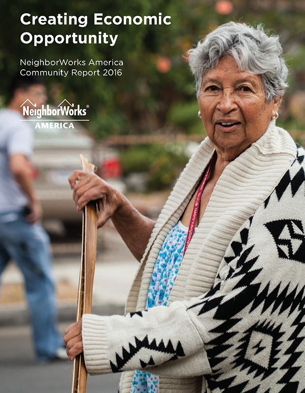Cover of NeighborWorks America's community report.